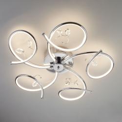 Светодиодный потолочный светильник 90089/5 хром