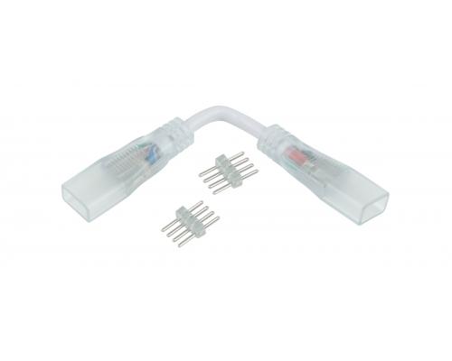 Аксессуары для светодиодной ленты Переходник для ленты угловой RGB 220V 5050 (10 шт.)