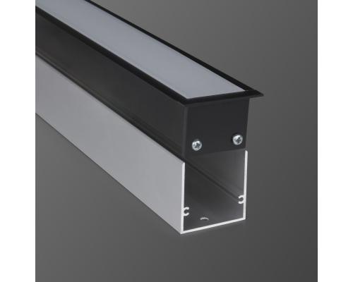Линейный светодиодный встраиваемый светильник 128см 21Вт 3000К черный матовый LS-03-128-21-3000-MB