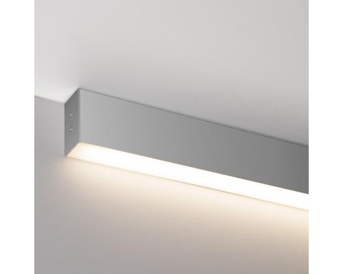 Линейный светодиодный накладной односторонний светильник 53см 9Вт 6500К матовое серебро LS-02-1-53-9-6500-MS
