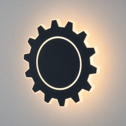 Gear L LED черный Настенный светодиодный светильник MRL LED 1100