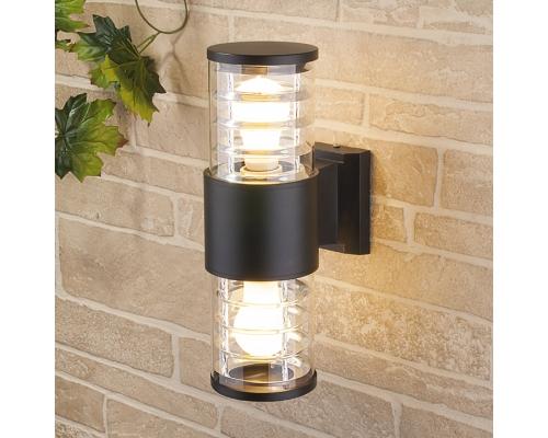 уличный настенный светильник 1407 TECHNO черный
