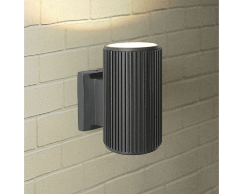 черный уличный настенный светильник 1404 TECHNO