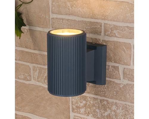 серый уличный настенный светильник 1404 TECHNO