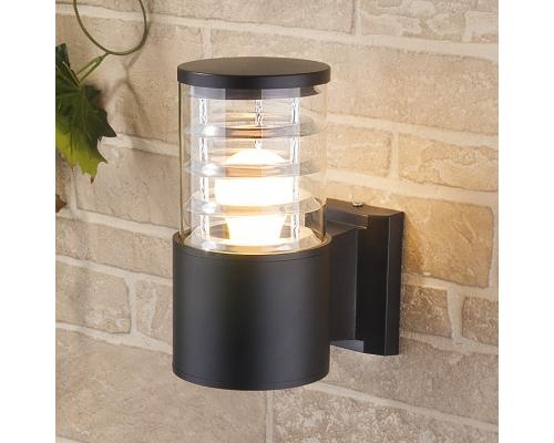уличный настенный светильник 1408 TECHNO черный