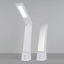 Настольный  светодиодный светильник Desk белый/серебряный TL90450