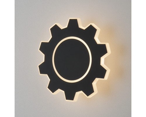 Gear M LED черный Настенный светодиодный светильник MRL LED 1095