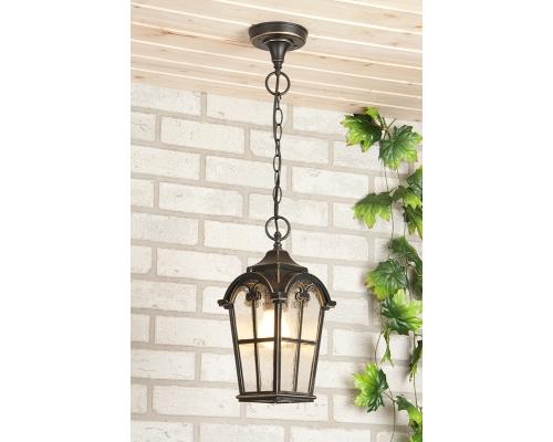 Подвесной уличный светильник Mira H черное золото