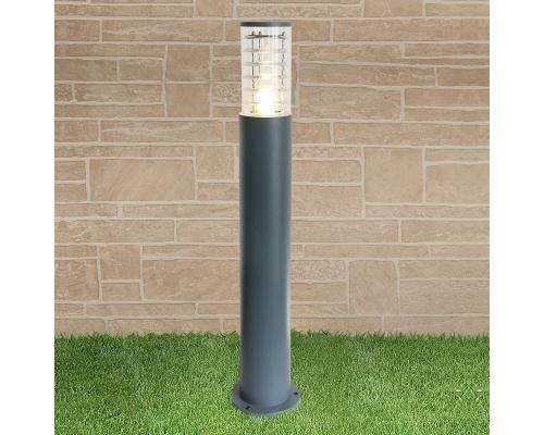 уличный светильник на столбе 1507 TECHNO серый