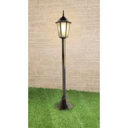 Уличный светильник на столбе IP44 GL 1014F черное золото