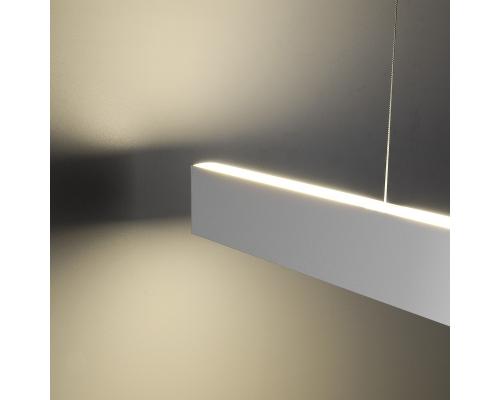 Линейный светодиодный подвесной двусторонний светильник 103см 32Вт 6500К матовое серебро LSG-01-2-8*103-32-6500-MS