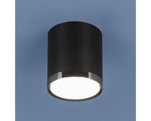 Накладной потолочный светодиодный светильник DLR024 6W 4200K черный матовый
