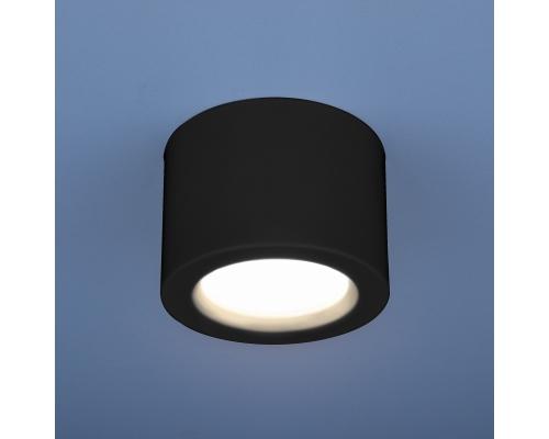 Накладной потолочный  светодиодный светильник DLR026 6W 4200K черный матовый