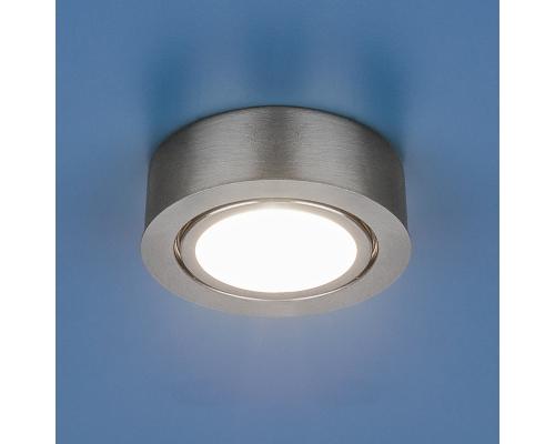 Накладной мебельный светильник 1012 G4 SN сатин никель