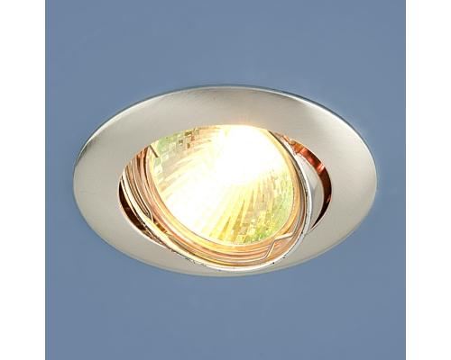 Точечный светильник 104S MR16 SS сатин серебро