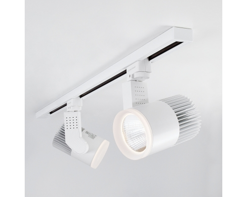 Трековый светодиодный светильник для однофазного шинопровода Accord Белый 30W 3300K LTB20
