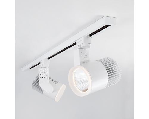 Трековый светодиодный светильник для однофазного шинопровода Accord Белый 20W 4200K LTB17