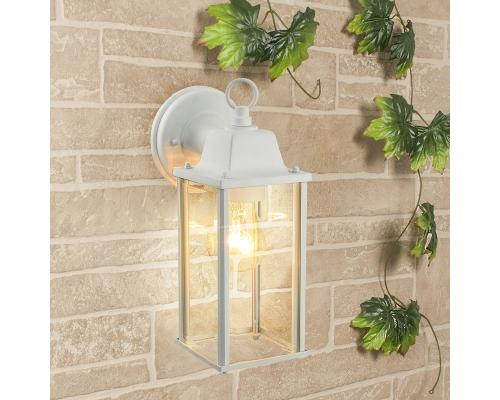 уличный настенный светильник 1008D Brick белый