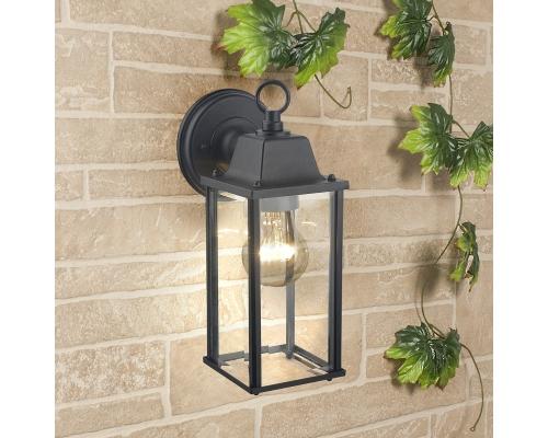 уличный настенный светильник 1008D Brick черный