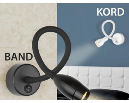Настенные светодиодные светильники Band и Kord