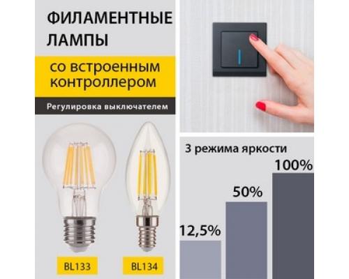 Новинки! Филаментные лампы с выбором яркости свечения BL133 и BL134
