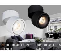Споты DLR031 15W 4200K черный матовый и DLR031 15W 4200K белый матовый